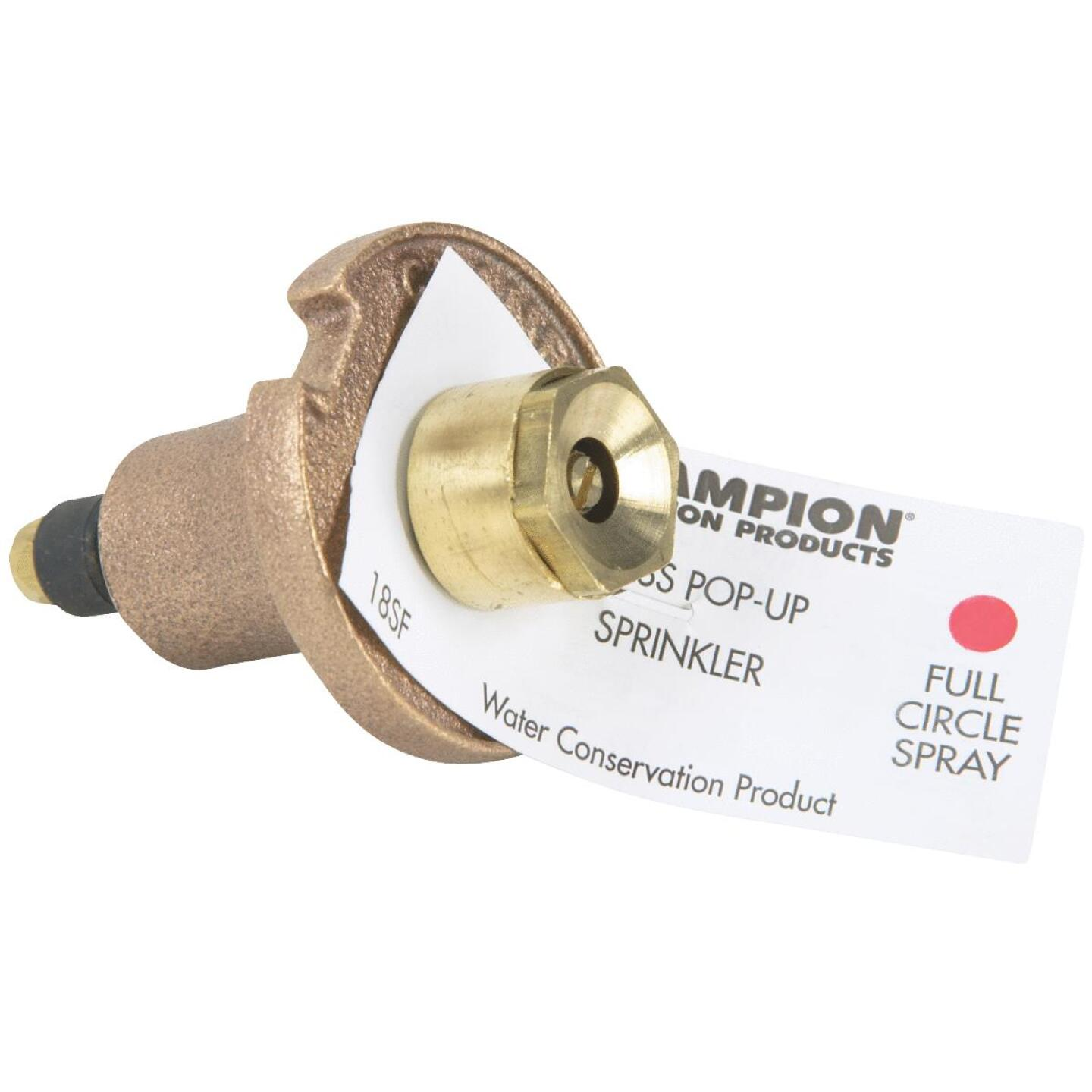 Champion 1.25 In. Full Circle Brass Pop-Up Sprinkler with Brass Nozzle Image 2