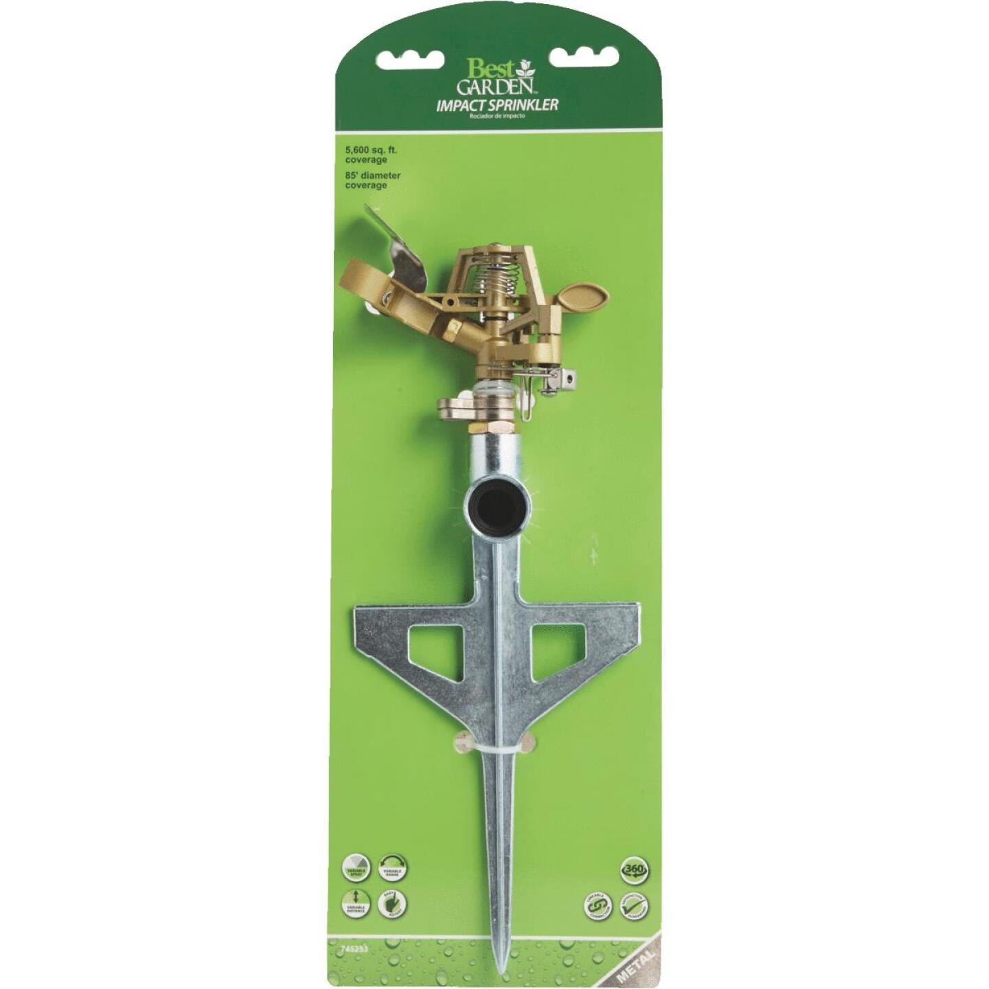 Best Garden Metal 5600 Sq. Ft. T-Spike Impulse Sprinkler Image 2