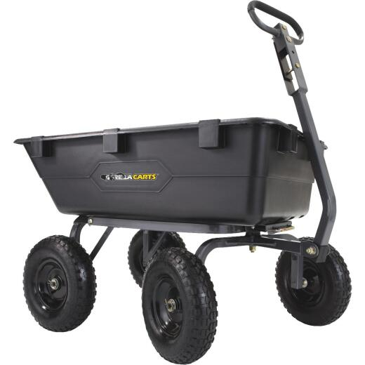Gorilla Carts 6.5 Cu. Ft. 1200 Lb. Poly Tow-Behind Garden Cart