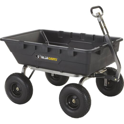 Gorilla Carts 10 Cu. Ft. 1500 Lb. Poly Tow-Behind Garden Cart