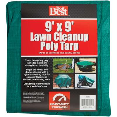 Do it Best 9 Ft. x 9 Ft. Poly Fabric Green Lawn Cleanup Tarp