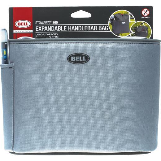 Bell Sports Stowaway 360 5 In. W. x H. 6.5 In. H. x 8.5 In. L. Bicycle Handlebar Bag