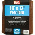 Do it Best 1 Side Green/1 Side Brown Woven 10 Ft. x 12 Ft. Medium Duty Poly Tarp Image 2