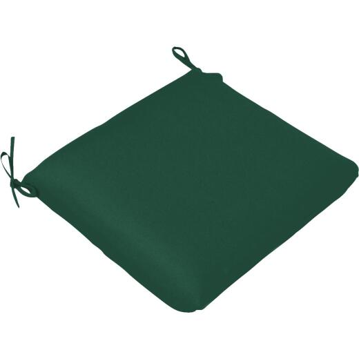 Casual Cushion 19 In. W. x 2 In. H. x 18 In. D. Green Chair Cushion