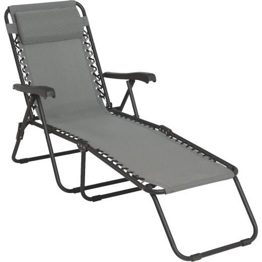 Outdoor Expressions Seville Gray Chaise Lounge