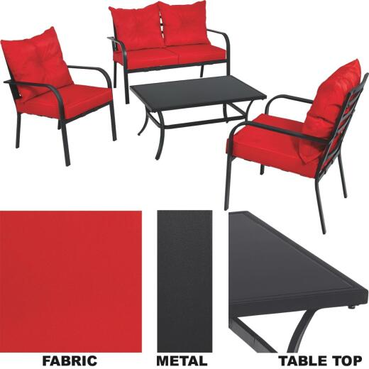 Outdoor Expressions Apollo 4-Piece Chat Set
