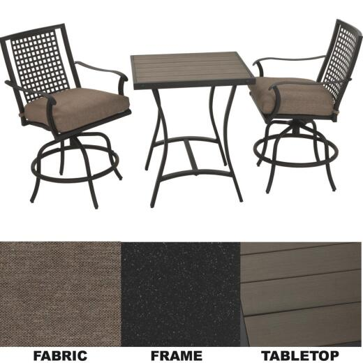 Palazzo 3-Piece Bistro Set with Seat Cushions