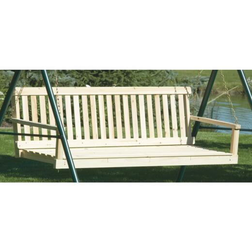 Jack Post Jennings 60 In. W. x 17.5 In. H. x 21-3/4 In. D. Natural Cypress Porch Swing