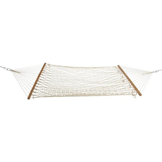 Castaway Hand Woven Cotton Rope White Hammock