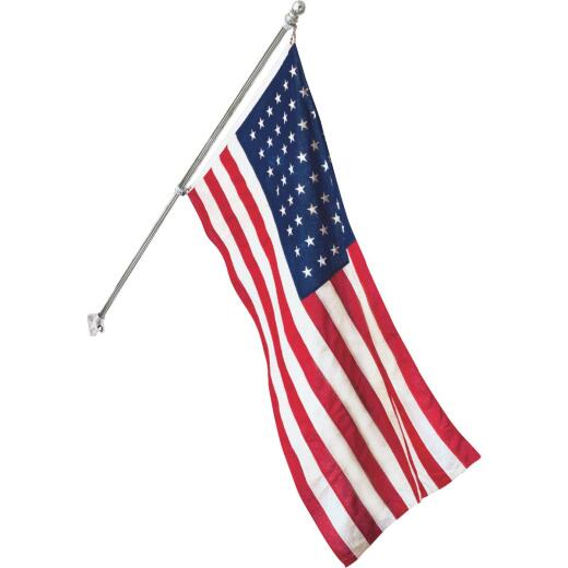 Valley Forge 3.5 Ft. x 5 Ft. Nylon American Flag & 6 Ft. Pole Kit