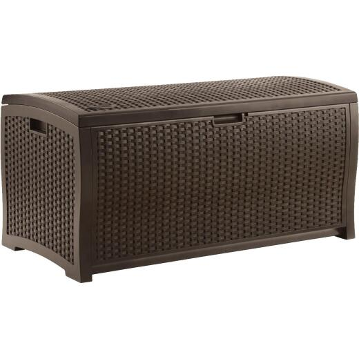 Suncast 92 Gal. Resin Wicker Java Deck Box