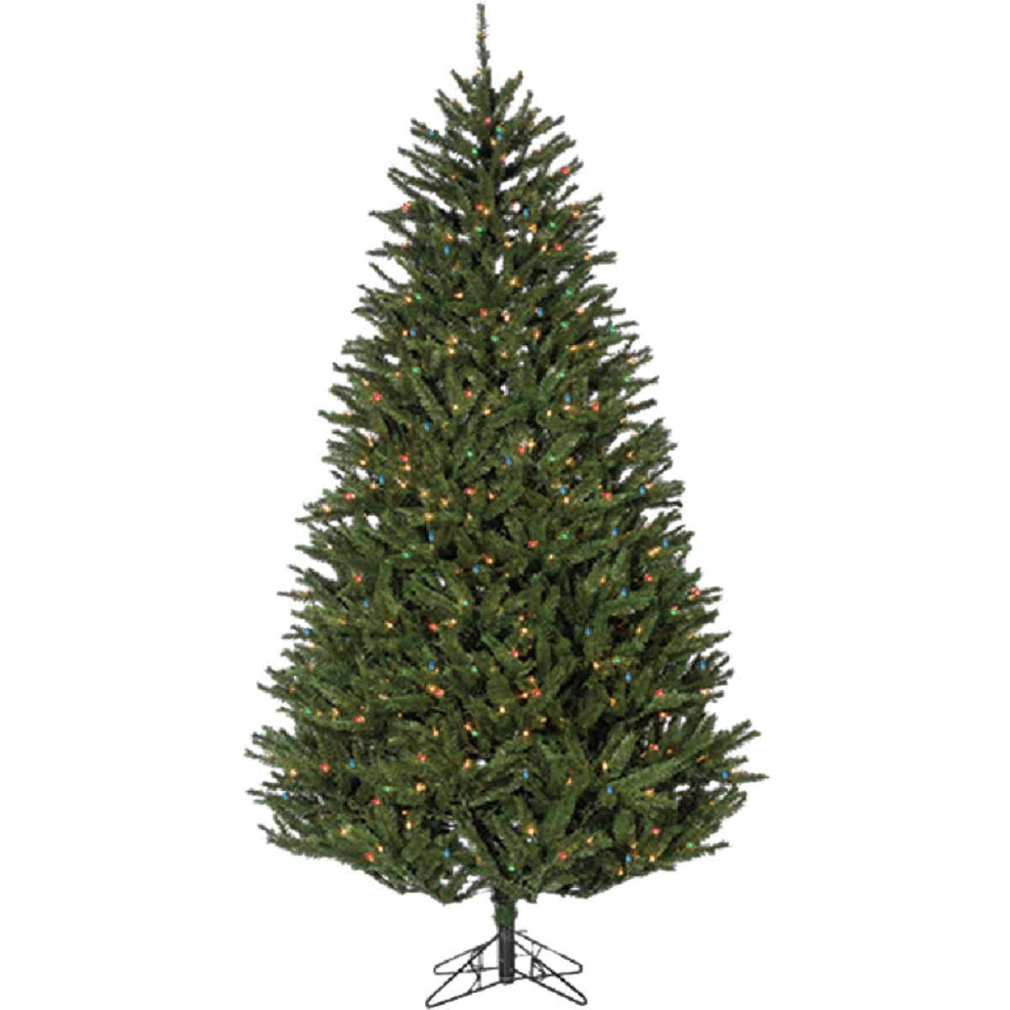 Sterling 7.5 Ft. New England Pine 800-Bulb Multi Incandescent Prelit Artificial Christmas Tree Image 1