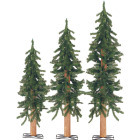 Sterling 2 Ft./3 Ft./4 Ft. Alpine 25/35/50-Bulb Clear Incandescent Prelit Artificial Christmas Tree Set Image 1