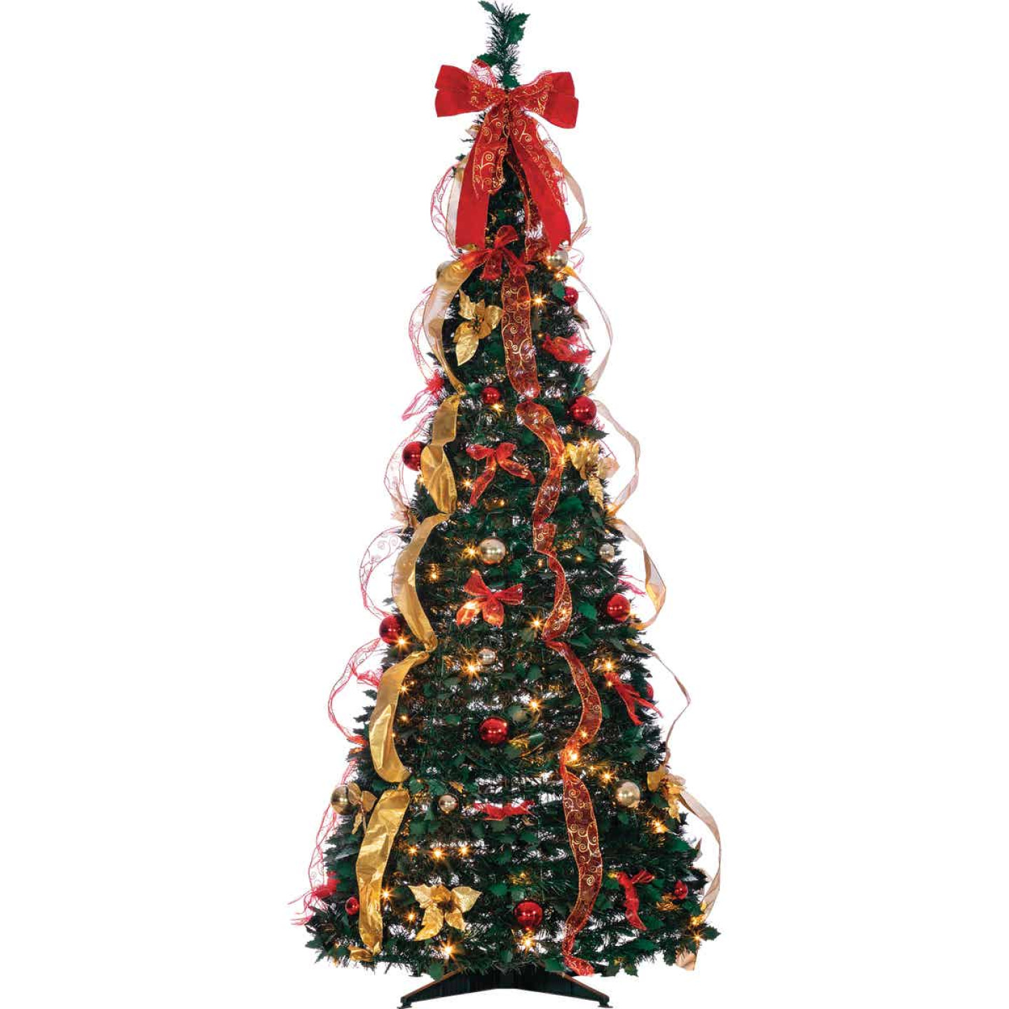 Gerson 6 Ft. Green Pine Pop-Up Christmas Tree Image 1