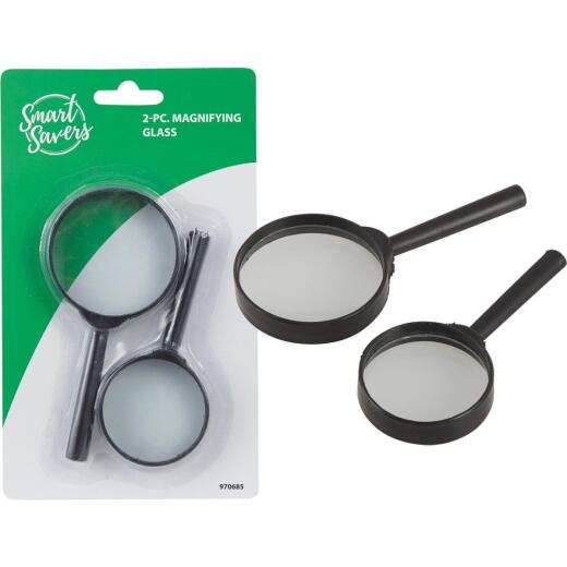 Smart Savers 5X Magnifying Glass (2-Pack)
