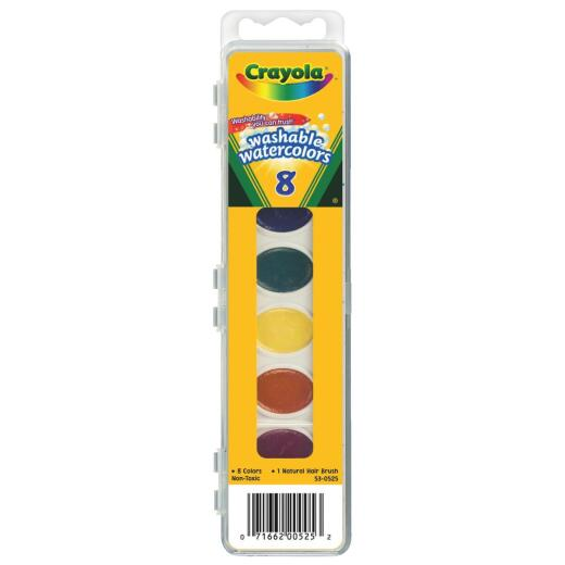 Crayola Washable Assorted Water Colors (8-Pack)
