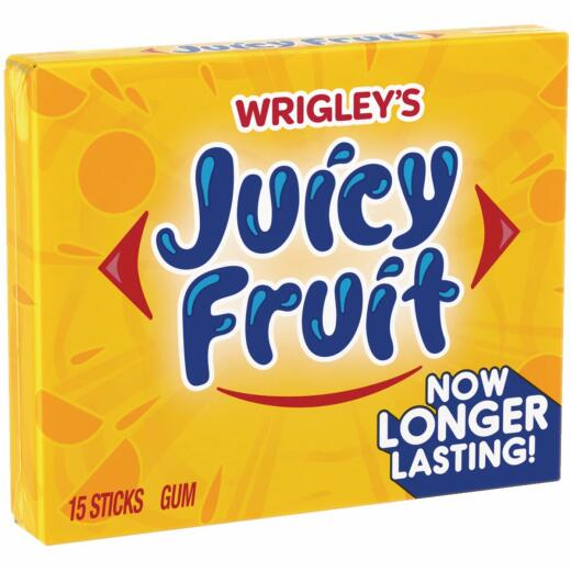 Wrigley's Juicy Fruit Gum (15-Piece)
