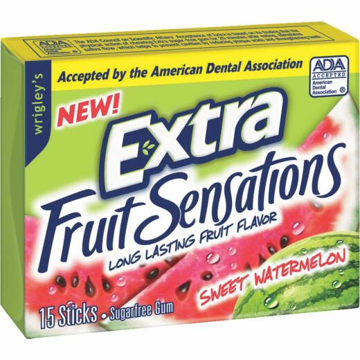 Extra Fruit Sensations Watermelon Gum (15-Piece)