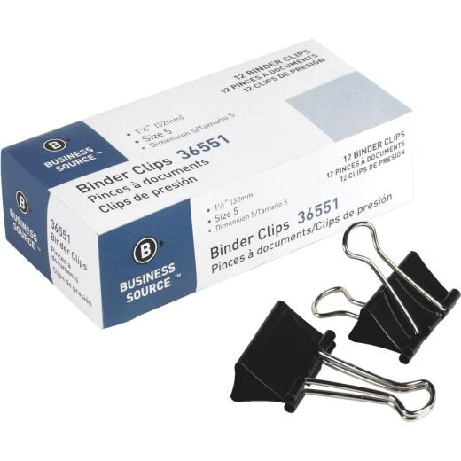 Business Source 1.25 In. W. Medium Binder Clips (12-Pack)